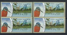 "Israël Distributeur N° 59** (MNH) 2010 - Oiseau ""Martin-pêcheur"" - Franking Labels"