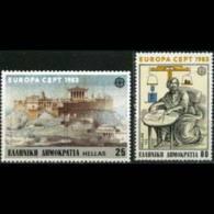 GREECE 1983 - Scott# 1459-60 Europa-Archimedes Set Of 2 LH - Greece