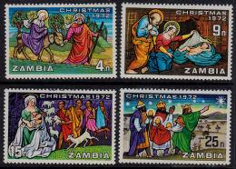 Zm0181 ZAMBIA 1972, SG 181-4 Christmas,  MNH - Zambie (1965-...)