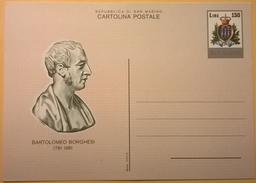 CARTOLINA NUOVA SAN MARINO BARTOLOMEO BORGHESI 150 LIRE - San Marino