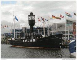 Postcard - Spurn Lightvessel, Hull, Yorkshire. SMH36 - Lighthouses