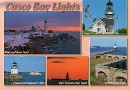 Postcard - Casco Bay Lighthouses, USA. MS188A - Lighthouses