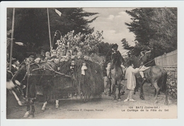 BATZ SUR MER - LOIRE ATLANTIQUE - LE CORTEGE DE LA FETE DU SEL - ATTELAGE - Batz-sur-Mer (Bourg De B.)