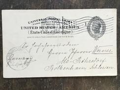 B14 United States Etats-Unis USA Stationery Entier Postal Ganzsache Psc From New Rochelle To Alt Röhrsdorf