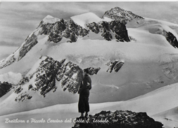 VAL D'AOSTA - BREITHORN E PICCOLO CERVINO - B/N EDIZ. SACAT TORINO - VIAGGIATA 1957 - Unclassified