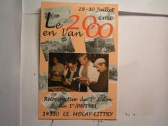 Bourses Et Salons - Le Mollay Littry - 20è Salon - Juillet 2000 - - Collector Fairs & Bourses
