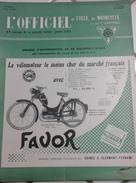 L'Officiel Du Cycle Du Motocycle Et Du Camping N°12 Juin 1955 Scooter TERROT Et PEUGEOT Cyclo ARLIGUIE - Auto/Moto