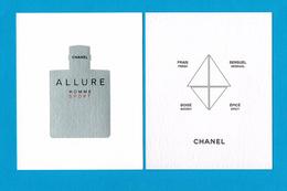 Cartes Parfumées Carte CHANEL ALLURE HOMME SPORT     De CHANEL - Modern (from 1961)