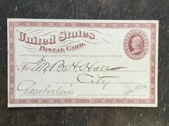 B14 United States Etats-Unis USA Stationery Entier Postal Ganzsache Psc UX1 Local Used
