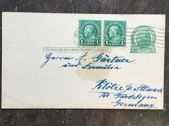 B14 United States Etats-Unis USA Stationery Entier Postal Ganzsache Psc To Klötze Germany