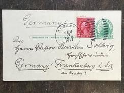 B14 United States Etats-Unis USA Stationery Entier Postal Ganzsache Psc From Albany To Germany