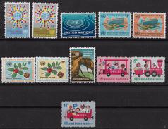1966    NATIONS UNIES N° 148  à 158   Nf** .MNH .  Année Complète . Siège De New York - Nuevos