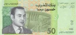 MAROC 50 DIRHAMS 2002 P-69a NEUF AVEC DASH À LA DATE [MA510a] - Morocco