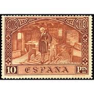 ES558STV-LFT***558STO.Spain.Esgane.AVION,1º Desembarco De COLON.DESCUBRIMIENTO DE AMERICA.1930 (Ed 558**) - Otros