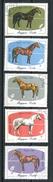 HUNGARY 1985. Animals / Horses Full Set  Mi.: 3766-3770 Used (Lot - 7  = 1001) - Chevaux