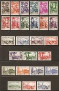 MAROC     -      1947 .   Y&T N° 246 à 265A *.  Série Complète. - Maroc (1891-1956)