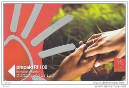Maldives,  Pre-Paid Rf 100, Hands, 2 Scans - Maldives