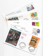 Enveloppes  1er Jour FDC .2001 .  5 Enveloppes Thème Differents - FDC