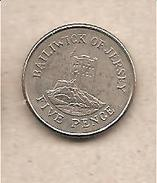 Jersey - Moneta Circolata Da 5 Pence - 1990 - Jersey