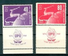 Israel - 1950, Michel/Philex No. : 28/29, - MH - Full Tab - - Israel