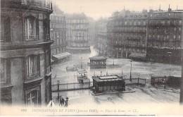 PARIS - INONDATIONS 1910 - Crue De La Seine : Place De Rome - CPA - - Paris Flood, 1910