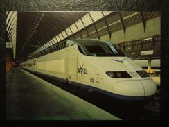 Lot De 3 Cartes  -train Grande Vitesse Espagnol AVE - Trenes