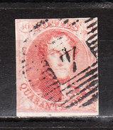 5  Médaillon Non Dentelé - Margé - Oblit. P4 ANVERS - LOOK!!!! - 1849-1850 Medaillons (3/5)