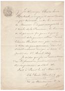 Papier Timbré Filigrané - TIMBRE Oudine Et Vauthier - Cachets Généralité