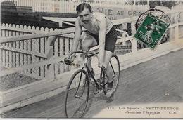 CPA Coureur Cycliste Sport Cycle Cyclisme Petit Breton Routier Sprinter Vélodrome Circulé - Cyclisme