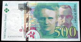 France - 500 Francs Pierre Et Marie Curie 1994  N° A 018141888 Très Beau Billet - 1992-2000 Ultima Gama