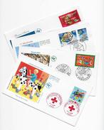 Enveloppes  1er Jour FDC .2000  4 Enveloppes . Croix Rouge,Bonne Année,3e Millénaire,Folklores - 2000-2009