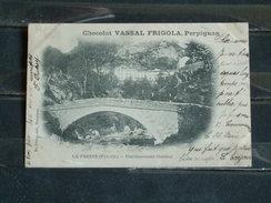G3 - 66 - La Preste - Etablissement Thermal - Publicité Chocolat Vassal Frigola - Perpignan - 1902 - Francia