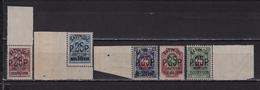 1919-1920 Sol. 35-39 ** British Occupation 25P Black Overprint Full Series MNH OG See Discription