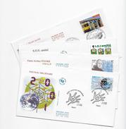 Enveloppes  1er Jour FDC .2000  4 Enveloppes . Nouveau Millénaire, Le Franciscain De Bourges,SOS Amitié, Le Train Jaune - FDC