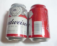 Vietnam Viet Nam Budweiser 330ml Empty Beer Can / Opened By 2 Holes - Cans