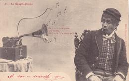 CPA Graphophone Phonographe Gramophone Musique Music Drole De Binette N° 7 - Otros