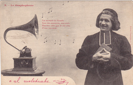 CPA Graphophone Phonographe Gramophone Musique Music Curé Homme D' Eglise N° 8 - Otros