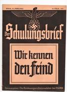 Journal Revue Propagande Allemande Der Chulungsbrief 1939 Guerre Allemagne Nazie - Revistas & Periódicos