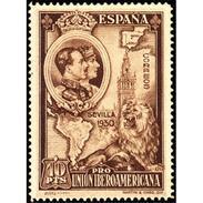 ES580STV-LFT***580STAN.Spain.Esgane.AVION,Pro Union IBEROAMERICANA.1930 (Ed 580**) - Nuovi