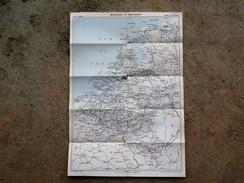 Carte Routiere BELGIQUE HOLLANDE    Guides Joanne HACHETTE 1889 - Callejero