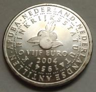 5 EUROS HOLANDA (PAÍSES BAJOS) 2004 PLATA (50 AÑOS CARTA REINO PAÍSES BAJOS) - Paises Bajos