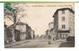 CPA-69-1910-TASSIN-L'ETOILE D'ALAÏ-AVENUE VICTOR-HUGO-ANIMEE-PERSONNAGE- - France