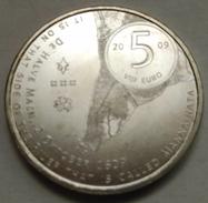 5 EUROS HOLANDA (PAÍSES BAJOS) 2009 PLATA (400 ANIV. FUNDACION MANHATTAN) - Paises Bajos