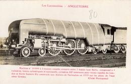 Les Locomotives D'Angleterre  -  Machine No 10,000  -  Construite Par Ateliers De Darlington 1929  -  Fleury CPA - Eisenbahnen