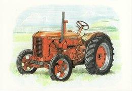 Automotive Art Postcard J I Case Dex Tractor - Cartoline