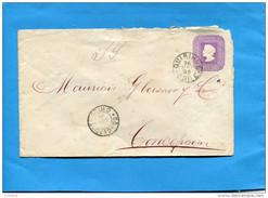 MARCOPHILIE -CHILI-lettre Entier Postal-5 Cent Colon Cad QUIRIHO  1898>Concepcion - Chile