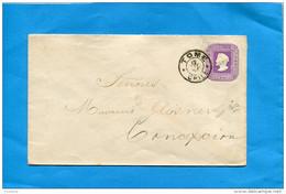 MARCOPHILIE -CHILI-lettre Entier Postal-5 Cent Colon Cad TOME 1895>Concepcion - Chile