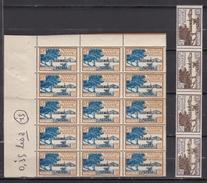 Wallis Et Futuna 1930/1938 - N°43**-44**-46**-47**-48** - Lot De 162 Timbres En Blocs - TB - Unused Stamps
