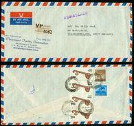 BR Indien, Moradabad - 1976 Luftpost R-Brief Nach Deutschland BRD, Triberg (Paramount Trading Corporation) - Briefe U. Dokumente