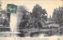 44 - Nantes - Jardin Des Palntes Le Jet D'Eau Et Le Labyrinthe - Coll. Chapeau - Circulée 1912 - Nantes